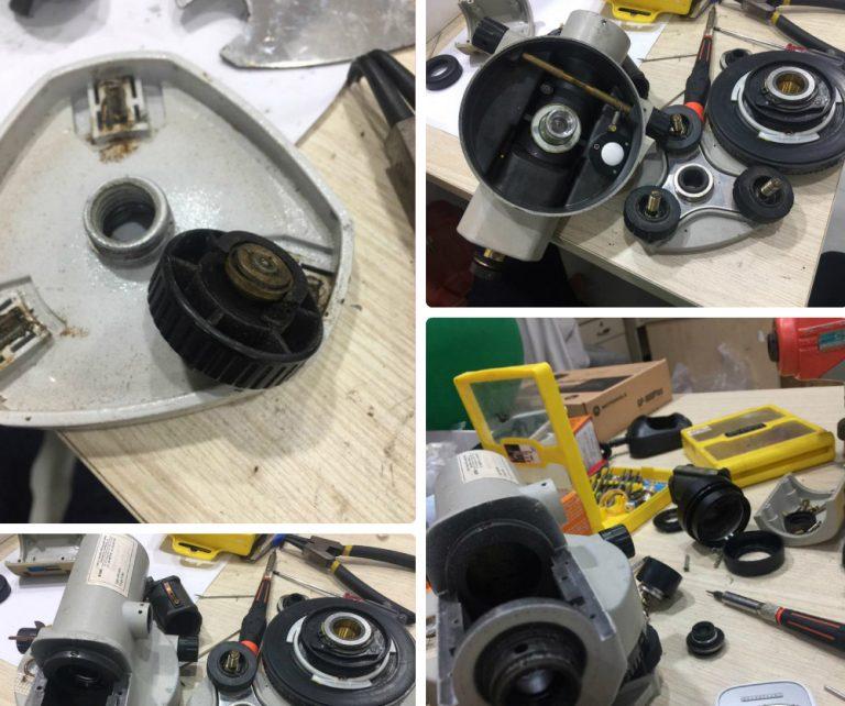 Máy thủy bình được sửa chữa lỗi hỏng hóc, kèm theo là quá trình kiểm định cho máy